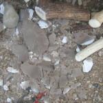 אבן יד,כלי העבודה,ופסולת הסיתות