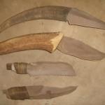 סכינים שונות חלקן מקויתות