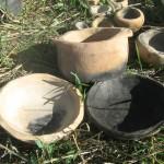 כלים בשריפה טבעית מחומר מקומי